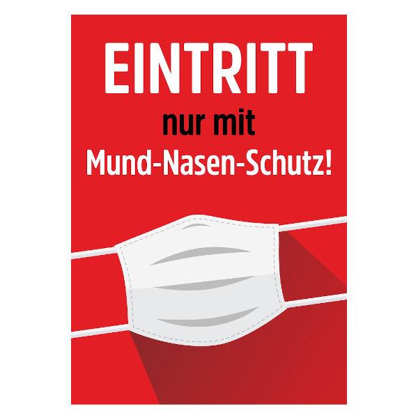 Plakat Mund-/Nasenschutz