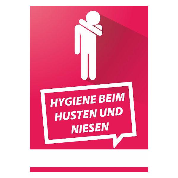 Plakat Hygenie beim Husten und Niesen